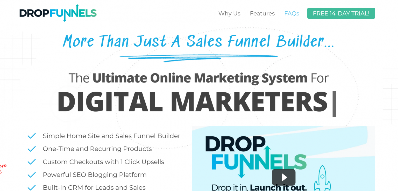 dropfunnels-review-homepage